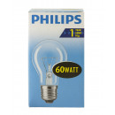 Philiips incandescent lamp / 60W / E27 / clear / p