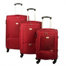 wholesale Suitcases & Trolleys: Stoffkofferset 3 pcs. Red