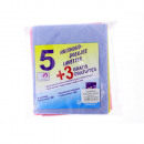 Cleaning rags 5 + 3 Free in blue, yellow, pink