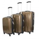 wholesale Suitcases & Trolleys: Ecolle luggage set 3 pcs. Brown