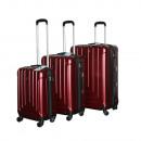 Ecolle bagageset 3 Ecolle rood ABS + TSA-slot