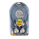 3 pcs stereo headphone set