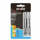 Ecolle 9 LED-zaklamp in blister zilver / zwart