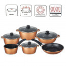 Cast aluminum cooking pot set 10 pcs. Copper