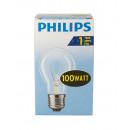 Philiips lámpa / 100W / E27 / tiszta / izzó forma