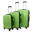 wholesale Suitcases & Trolleys: Ecolle luggage set 3 pcs. Green