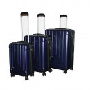 wholesale Suitcases & Trolleys: Ecolle luggage set 3 Ecolle dark blue