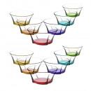 LAV 12 pièces Bols en verre coloré Bols Truva