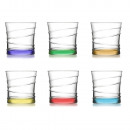 LAV juice glass 6er 320cc colored