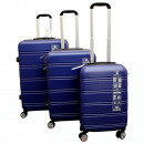 wholesale Suitcases & Trolleys:Suitcase 3 parts blue