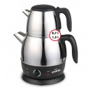 Electric kettle electr. Stainless steel 1.5 + 0.7