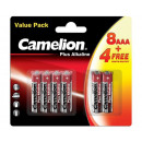 Camelion plus Alkaline LR03 / AAA / BP12 (8 + 4 GR