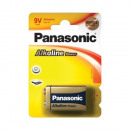 Bloc de piles Alkaline Panasonic 6LF22, bloc 9 V