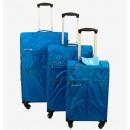 mayorista Maletas y trolleys: Ecolle tela Ecolle 3 piezas azul.
