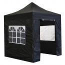 groothandel Sport & Vrije Tijd: Easy up partytent 2x2m zwart met ramen party tent