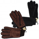 Men's gloves leather lined knit cuff