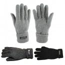 Gebreide handschoenen Voering unisex wollen fleece