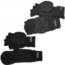 Knitted gloves half finger envelope wool
