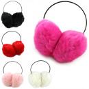 Großhandel Kopfbedeckung: Ohrenwärmer Soft Ohrenschützer Kunstfell Winter