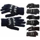 Vinger gebreide handschoenen patroon vrouwen en ma