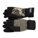 Vinger gebreide handschoen wol fleece Noors patroo