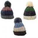 Bobble Hat XL - Bonnet d'hiver en tricot de fa