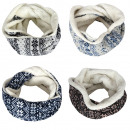 wholesale Scarves & Shawls: Loop Flower Scarf Cuddly fur polyester winter