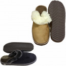 Men's slipper shoes sheep lambskin EVA sole