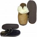 Męskie pantofle owcze podeszwa z owczej skóry owcz