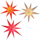 Poinsettia 9-point paper star Christmas decoration