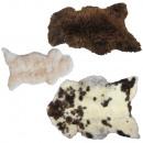 wholesale Carpets & Flooring: Lambskin deco rug natural real sheepskin