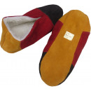 Suede slipper genuine leather oversize