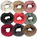 Loop scarf knit polyacrylic cable knit winter