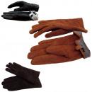 Damskie rękawiczki skórzane podszyte wąskie