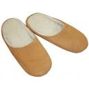 Sztuczne futro pantofla z prawdziwej skóry Gr. 48-
