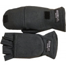 Fleece gloves half finger fist wrap lining