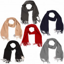 wholesale Scarves & Shawls: Scarf Wool Fringes Trend Basic Winter