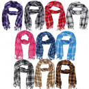 wholesale Scarves & Shawls: Scarf Long Scarf Anthony Checked fringe cloth