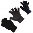 Gants tricotés demi doigt unisexe monochrome