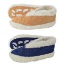 Suede slipper Faux fur lining Anti slip