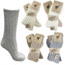 wholesale Fashion & Apparel: 2 pairs of alpaca socks Dick Winter Warm sheep w