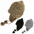 Inca Hat Real Fur Angora Winter Beanie Soft Bomme