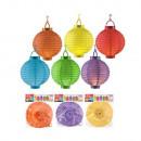 nagyker Lámpások: Lámpa - papír - 20 cm - 6 szín