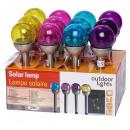 wholesale Illuminants: Solar lamp glass bulb 4ass clr - Lights