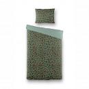 Deckbettbezug Lazy Leopard, 140x220, grün