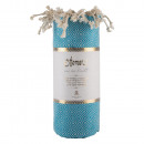 Hangmat handdoek diamant turquoise