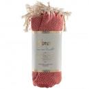 Diamentowy ręcznik Hamam czerwony
