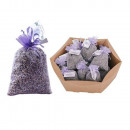 Lavender flowers in organza large in cellophane