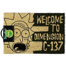 RICK AND MORTY DIMENSION DOOR MAT - Paillasson