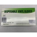 Vinyl kesztyű | 100 darabos csomag | XL